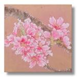 桃の花 日本画 1