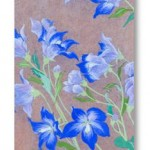 桔梗 Chinese bellflower- Japanese painting