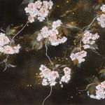 「花あかり」 桜日本画 90×180