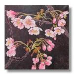 寒桜(かんざくら)日本画2  Cherry blossoms