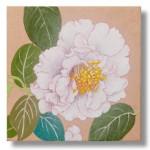 椿(つばき) 日本画 4 Camellias