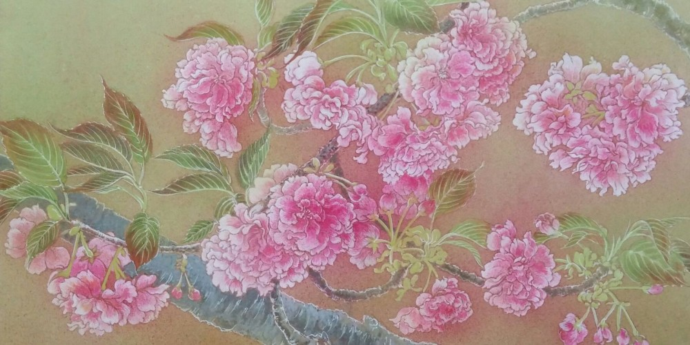 さくらー関山ー2015 Cherry blossoms (kanzan) Japanese‐style paintings