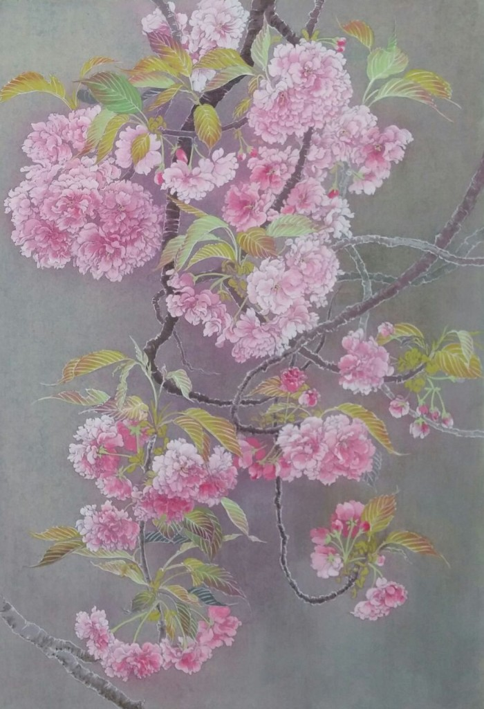 桜(関山)12号 Cherry blossoms (kanzan) Japanese‐style paintings