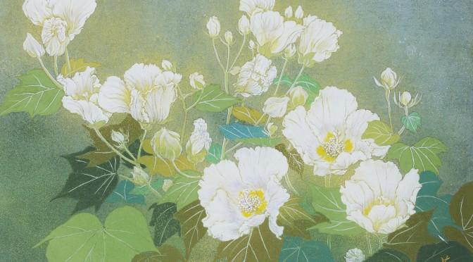 芙蓉の花  Furong flowers  Japanese‐style painting