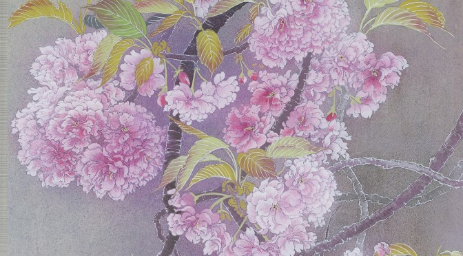 桜(関山)グル―に寄せて Cherry blossoms (kanzan) Japanese‐style painting
